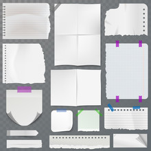 Note Papers Vector Page Of Not...