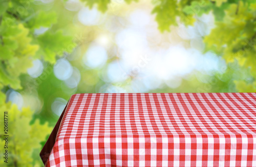 Aluminium Prints Picnic Empty table background