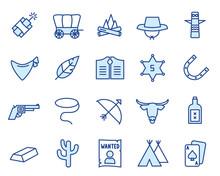 Wild West Vector Icon Set