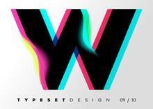 Vector Typeset Design. Neon Gl...