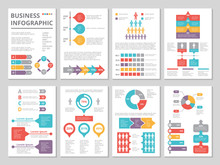 Design Project Of Business Annual Report With Infographic Pictures
