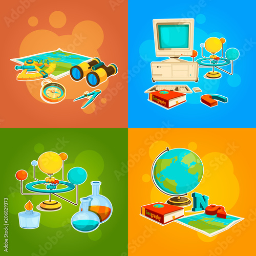Fotografia  Collection of geography and science tools