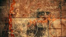 Code Da Vinci With Devices And Portrait