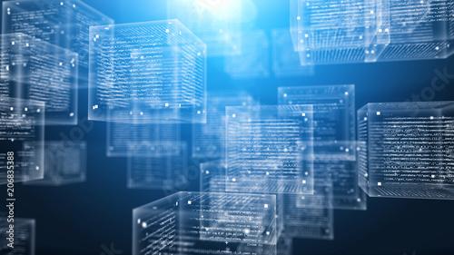 Fotografering  Digital Program Cubes in Cyberspace