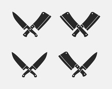Set Of Meat Cutting Knives Ico...