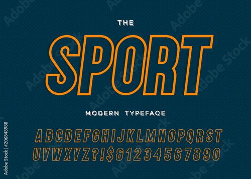 Valokuva  Vector sport modern typeface sans serif style
