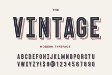 Vector Vintage Colorful Typefa...