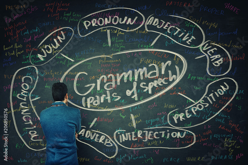 Fotografering learning english grammar