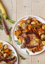 Côte De Porc Aux Légumes