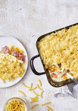 Gratin De Macaroni Courgette Jambon Fromage