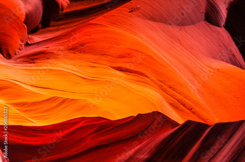 The Appearance of Flowing Lava in Antelope Slot Canyon