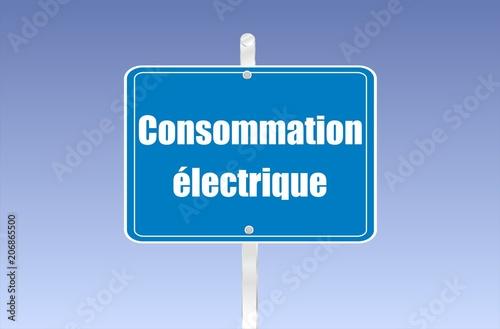 Fotografía  panneau consommation électrique