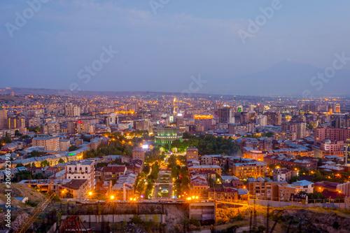 Garden Poster Barcelona Yerevan at night