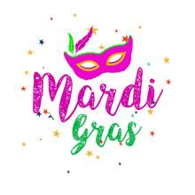 Mardi Gras Carnival Set Icons,...