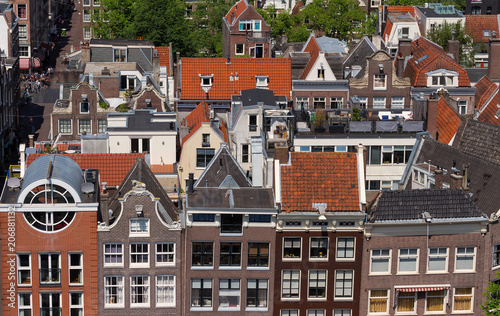Roofs and facades of Amsterdam Poster Mural XXL