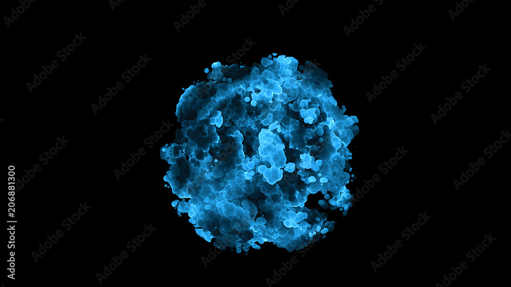 Fototapeta Blood cell enzyme colorful cells science concept
