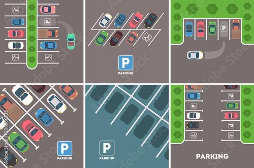 Fotografie, Obraz Parking in city.