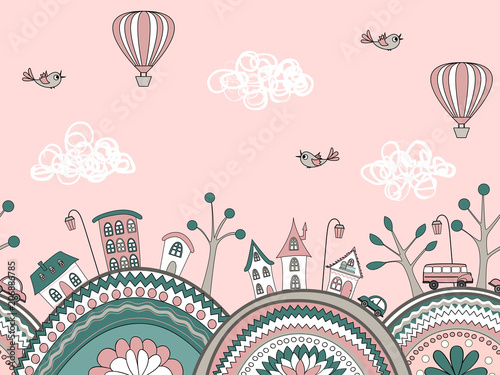 cute-doodle-seamless-pattern-city-hills