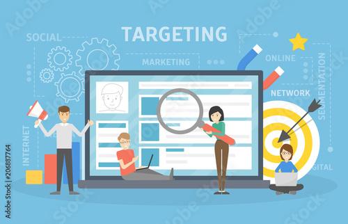 Photo  Targeting concept illustration.