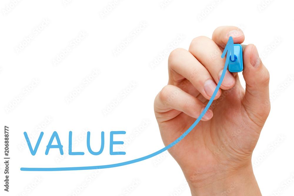Fototapeta Increasing Value Graph Concept