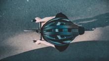 Fahrrad Auf Mallorca, Helm Von Oben