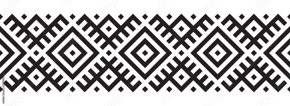 Fototapeta Geometric pattern in ethnic style seamless pattern