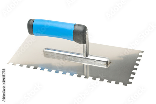 Photo  Notched trowel on white