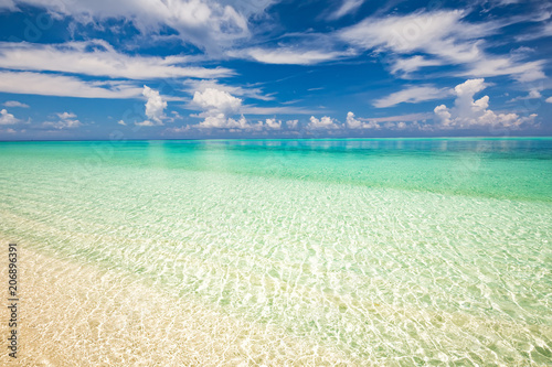 Beautiful ocean beach on Maldives Canvas Print
