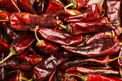 Canvas Prints Hot chili peppers Dry chili peppers, closeup