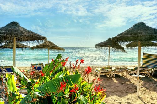 Tableau sur Toile Benalmadena beach, Malaga province, Andalusia, Spain