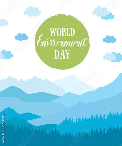 Keuken foto achterwand Turkoois World environment day. Eco friendly ecology concept. .