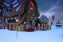Santas Workshop Background, 3d...