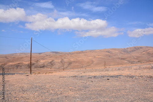 Foto op Canvas Zalm Landscape in Tropical Volcanic Canary Islands Spain