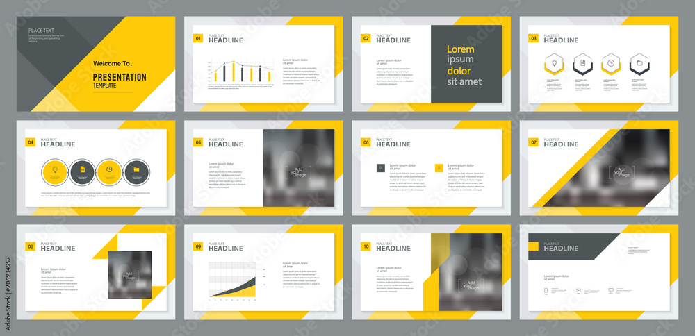 Fototapety, obrazy: template presentation design and page layout design for brochure ,book , magazine,annual report and company profile , with info graphic elements design