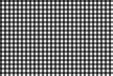 Pattern for black and grey checkered tablecloth, seamless - 206935532