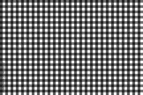 Fotografie, Obraz  Pattern for black and grey checkered tablecloth, seamless