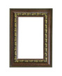 vintage picture frame isolated
