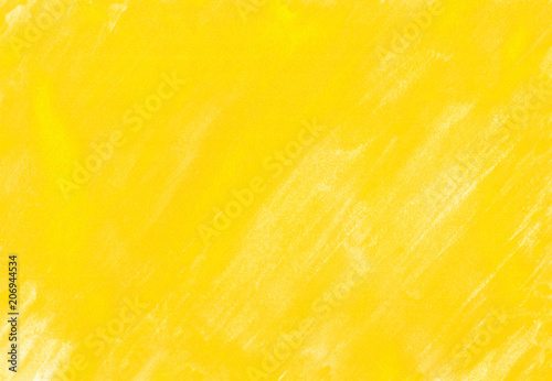 Fototapeta 黄色の水彩絵の具塗った色斑テクスチャ obraz