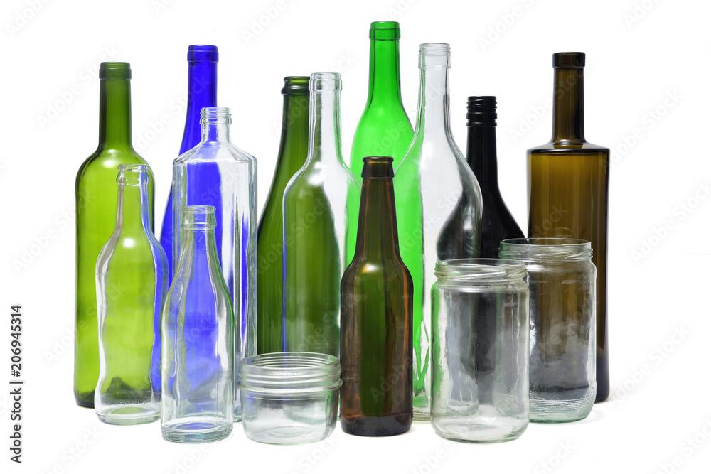 Fototapeta recyling glass on white background