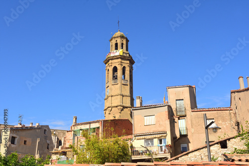 Photo Sant Pere Church of Calaf, Anoia, Barcelona ,province, Catalonia, Spain,