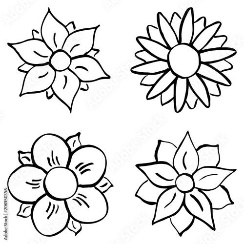 Cartoon Blumen Zum Ausmalen Buy This Stock Vector And Explore