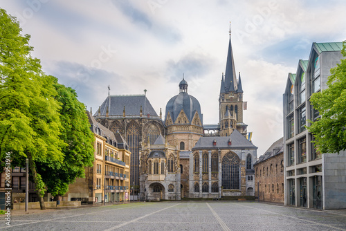 View at the Cathedral of Aachen - Germany Canvas Print