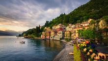 Beautiful Town Of Varenna, Lake Como, Italy