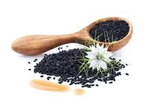 Black Cumin Oil With Flower