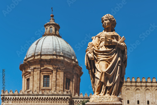 Staande foto Palermo The statue of Saint Olivia in Palermo - Italy
