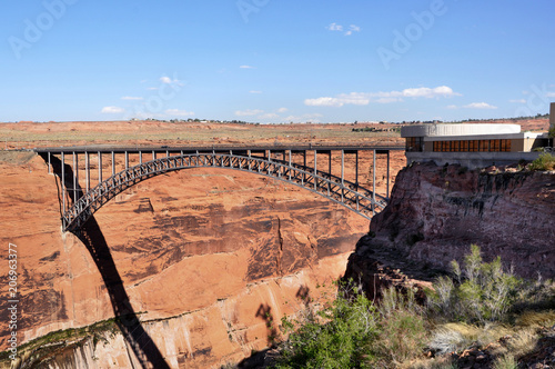 Photo  Glen Canyon Dam Overhanging Colorado River