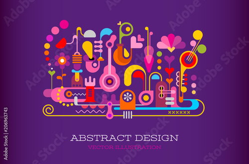 La pose en embrasure Art abstrait Abstract Design vector background