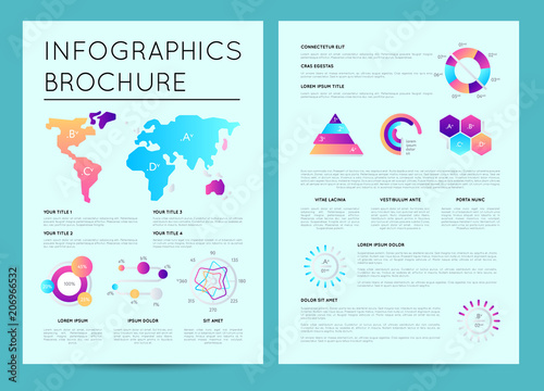 corporate business presentation template with colorful infographics