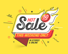 Weekend Hot Sale Banner Templa...