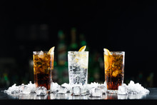 Two Whisky And Cola Cocktails ...